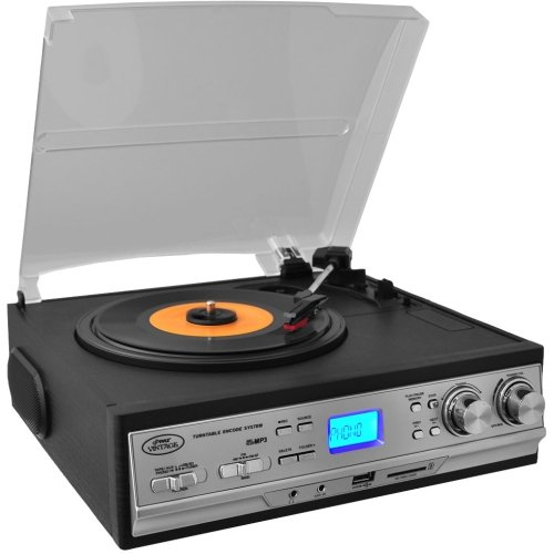 Pyle Pttcs9u Record/Cassette Turntable . 33.33, 45, 78 Rpm . Secure Digital (Sd) Card, Analog Magnetic ''Product Type: Musical Instruments/Turntables'' by OEM