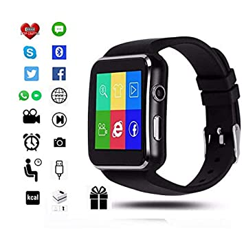 Torus Pro X6 Reloj Inteligente Negro para Hombres Deportes Fitness y Actividad Tracker, Podómetro y Calorías Contador, Pantalla de color,: Amazon.es: ...