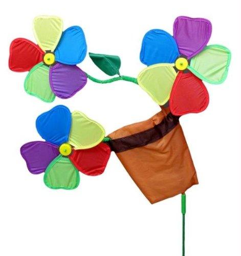 IWDSC 0160-03611 Three Flowers in Pot Wind ()