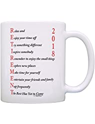 Retirement Gifts for Women or Men Retirement 2018 Retired Poem Retirement Gift Ideas for Coworker Gift Coffee Mug Tea Cup White
