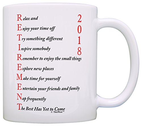 Retirement Coffee (Retirement Gifts for Women or Men Retirement 2018 Retired Poem Retirement Gift Ideas for Coworker Gift Coffee Mug Tea Cup White)