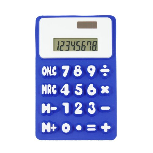 uxcell Officer Dark Blue White 8 Digits 20 Button Calculator