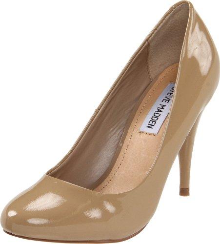 Steve Madden Women's Unityy Pump,Blush Patent,9.5 M US (Heel 3' Patent)
