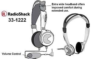 33-1222 RadioShack Pro 35A Titanium Lightweight Headphones