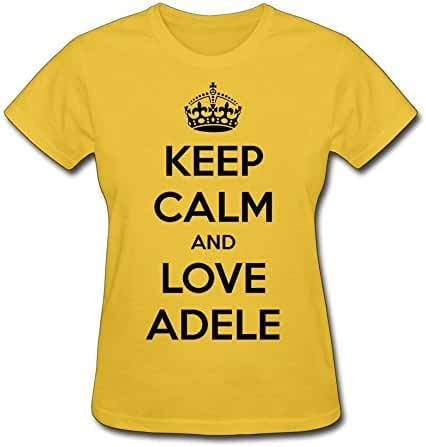 Keep Calm And Love Adele Adkins Women's Crewneck T-Shirt