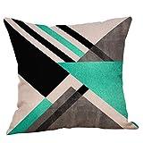 Pillowcase,Hot Sale! Hongxin Geometric Printed Cotton Linen Throw Pillow Cases Sofa Cushion Cover Home Decor (E)