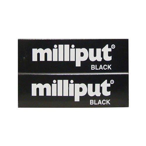 Milliput Epoxy Putty - Black 113.4g Kit (2 Pack)