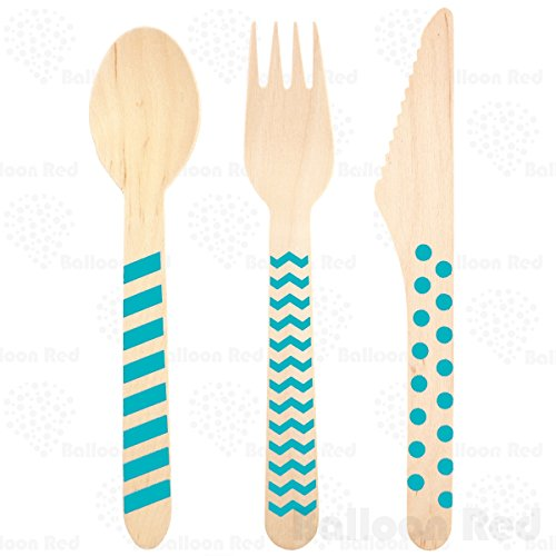[Stamped Wooden Disposable Cutlery Set (Premium Quality), Pack of 18 - 6 Spoons 6 Forks 6 Knives,] (Homemade Children Costumes)