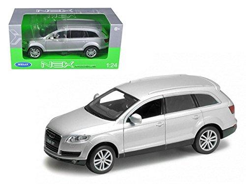 Welly 2009 Audi Q7 1/24 Diecast Model Car Silver Silver Diecast Model Car