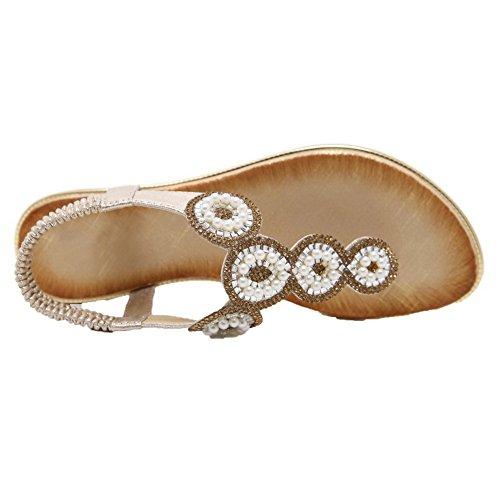 Puntera Tacón Gold Dividida Sandalias Sólido Mini Vestir AalarDom TSMLG006007 de Mujeres U5qZ6nI