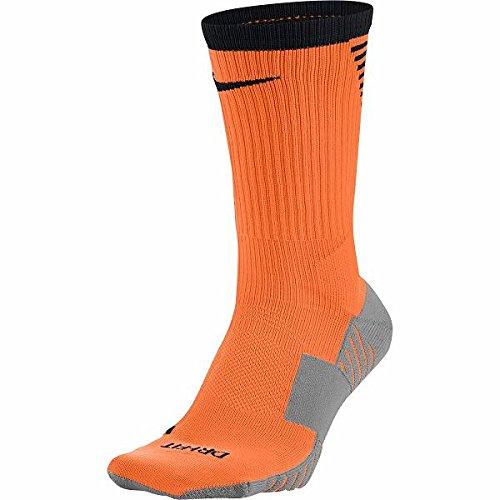 Nike Squad Crew Soccer Socks Orange/Black/Gray 8-12 (M) 10-13 - Black Orange Nike Socks
