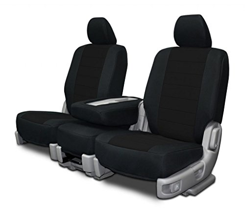 Custom Fit Seat Covers For Ford F-150 40-20-40 Style Seat Black Neoprene Fabric