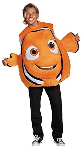 UHC Disney Nemo Fish Outfit Funny Comical Theme Fancy Dress Halloween Costume, OS (42-46) -