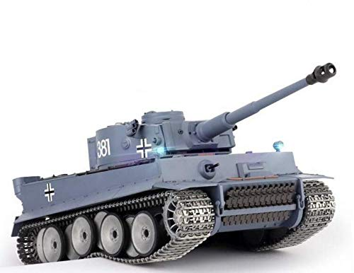 Heng Long New Metal Tracks Edition 1/16 German Tiger I Airsoft RC Battle Tank Special Metal Tracks Edition w/ Sound & Smoking Effect ()