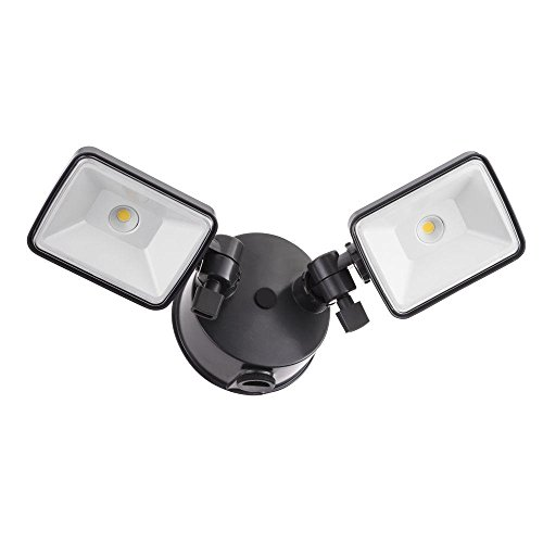 Lithonia Lighting OLF 2SH 40K 120 PE BZ M4 Twin Head Dusk to Dawn Outdoor Integrated LED Security Flood Light Square 4000K Black Bronze  sc 1 st  Amazon.com & Eave Mount Security Lights: Amazon.com
