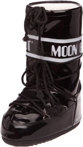Tecnica Moon Boot Vinil - Botas de nieve, unisex Negro