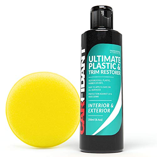 Carfidant Trim & Plastic Restorer - Restores Faded and Dull Plastic, Rubber, Vinyl Back to Black! Protectant and Sealant from UV & Dirt - Easy to Apply! (Best Car Wax For Faded Paint)