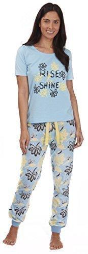 Mujer Algodón De Jersey Ligero Conjunto Pijama Subir & Shine