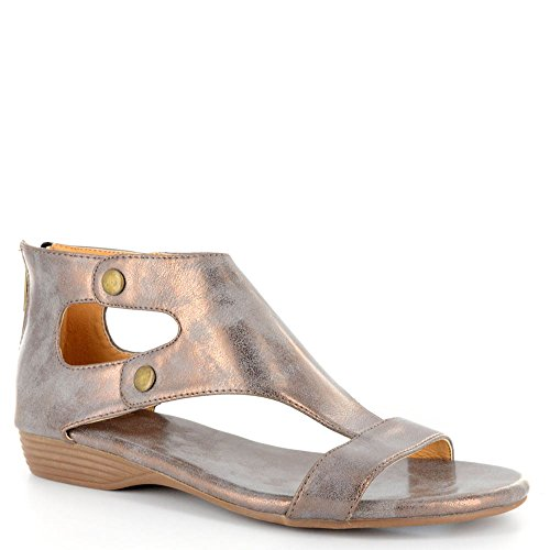 Corkys Womens Amelia Faux Leather Sandal (9, Brushed Bronze)