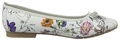 Women's Flats Softline Brown Ballet 908 Comb Flower 22164 dqSnwH