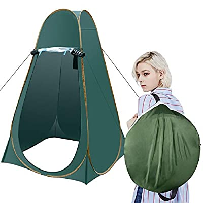 Portable Camping Changing Dressing Tent, Indoor/Outdoor Changing Room Pop Up Beach Toilet Room, Waterproof Privacy Rain Shelter Tent for Photography/ Dressing/ Toilet/ Shower/ Shading With Carry Case