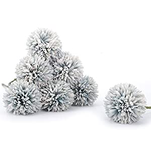 Bomarolan Artificial Hydrangea Silk Flowers Real Touch Fake Dandelion Bouquet for Wedding,Birthday Party,Home Decoration 7 Pcs 4