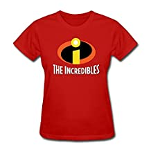 ToWi Lady The Incredibles Logo Crew Neck Tshirts Red L