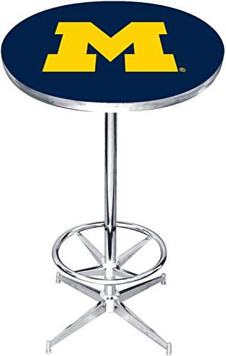 Imperial Officially Licensed NCAA Furniture: Round Pub-Style Table, Michigan Wolverines - Ncaa Furniture
