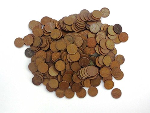 1 Various Mint Marks - Wheat Pennies by the Pound - 1 Pound Collection Circulated ()