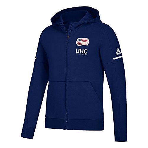 adidas MLS New England Revolution Men's Authentic Travel Jacket, XX-Large, Dark Indigo
