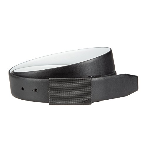 Nike Men's Stealthy Plaque Reversible Golf Belt(Black/White, 42) - Nike Reversible Belt Accessories