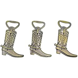 Kinteshun Cowboy Boot Bottle Opener for Wedding Party Favor (12pcs,Bronze Tone)
