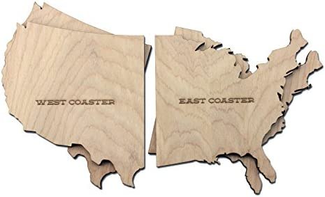 Wooden Shoe Designs East Coasters Tan Set of 4