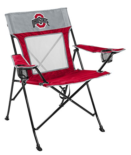 - Rawlings NCAA Game Changer Large Folding Tailgating and Camping Chair, with Carrying Case, Ohio State Buckeyes