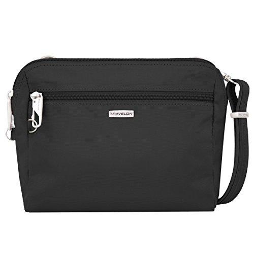 Travelon Womens Classic Convertible Crossbody & Waist Pack Cross Body Bag, Black, One Size