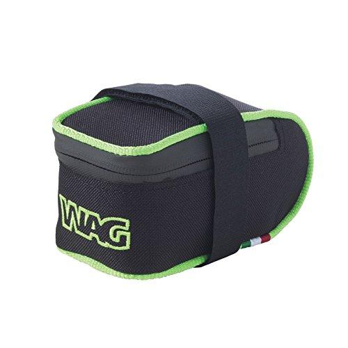Wag Satteltasche MTB Cordura kratzfest schwarz grün fluo (Taschen Schabracke)/Saddle Bag MTB Cordura Anti-Scratch Black Neon Green (Wing Case)
