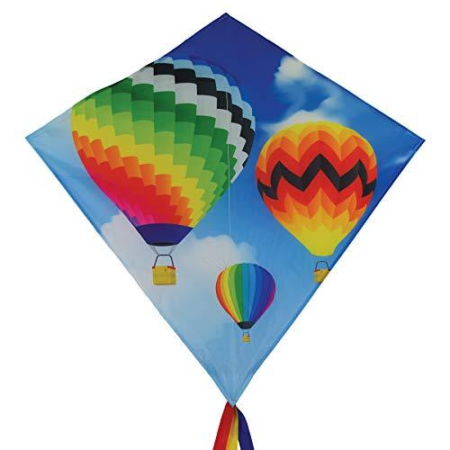 In the Breeze 3260 - Hot Air Balloon 30 Inch Diamond Kite - Fun, Easy Flying Hot Air Balloon Kite