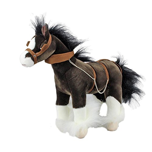 Bocchetta Plush Toys Clydesdale Horse W/Bridle Soft Toy Drover Large
