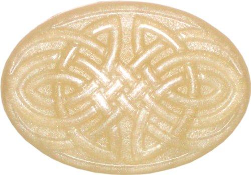 - Celtic Knot Soap, Green Irish Tweed, Ivory Sparkles