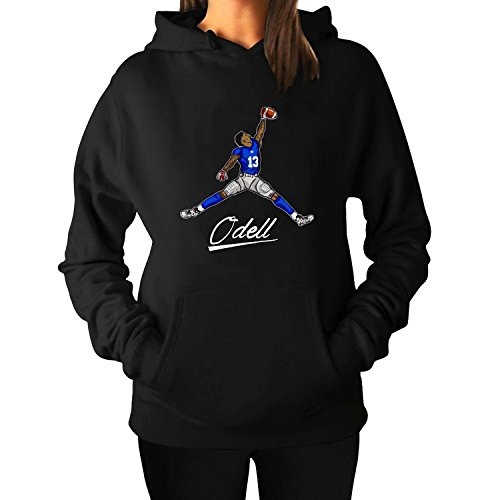 Women's ODell Beckham Jr Giants Activewear Hooded Sweater Black