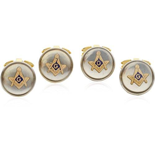 (Cuff-Daddy 4 Masonic Button Covers with Presentation Box)