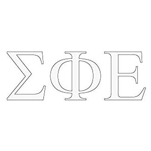 Sigma Phi Epsilon SigEp Greek Letter Window Sticker Decal