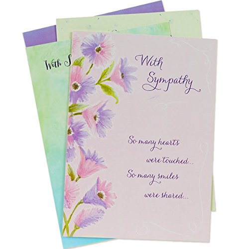 Lily Sympathy Card - Designer Greetings Sympathy Greeting Cards with Envelopes, Assorted (12 Count)