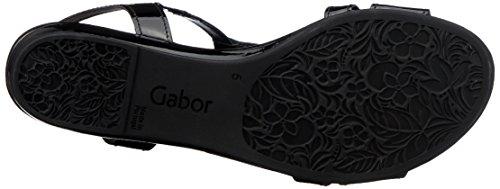 Gabor Comfort Sport Nero Alla Sandali Donna Cinturino Con schwarz Caviglia rr6SqwU