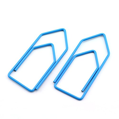 RuiLing 30-Pack Paper Clips,Light Blue Creative Shape 2.7 inch Length Great for Paper Clip Collectors Bookmark Document Holder Office School by RuiLing