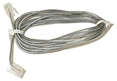 Communication Circuit Accessory 6ft 2-wire RJ11 6P2C Phone Line Cord For Telephone, Fax, DSL Modem, Answering Machine