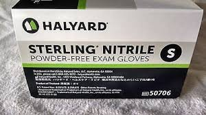 Halyard Health Sterling Examination Gloves,Small Size - Latex-free, Powder-free, Durable, Textured F