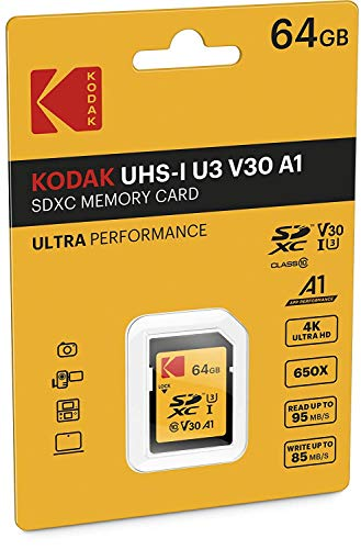 KODAK High Speed SDXC 64  GB Class 10 95 MB/s SD Memory Card