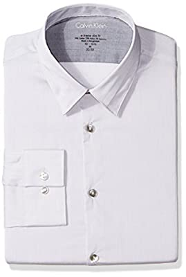 Calvin Klein Men's Xtreme Slim Fit Unsolid Solid Dress Shirt