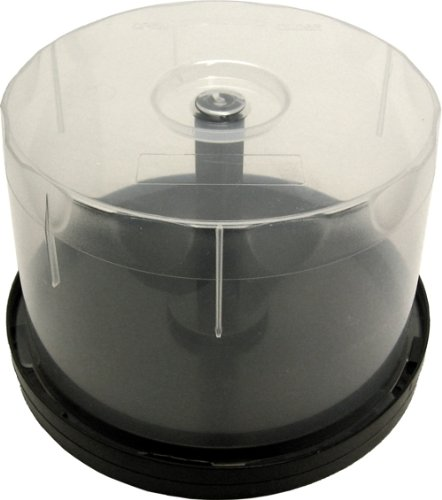 10 Clear & Black CD Beehive / Cakeboxes - Holds 50 Discs #CDIP50BH (Beehives, Cakebox, Cake Box, Bee Hive) by Square Deal Recordings & Supplies